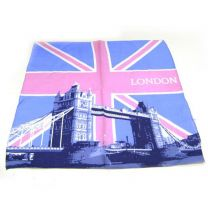 Pink Tower Bridge Union Jack Cotton Bandana