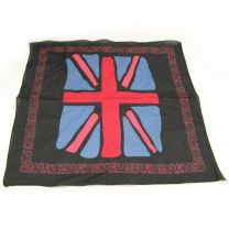 Union Jack Flag Bandana - Black Painted