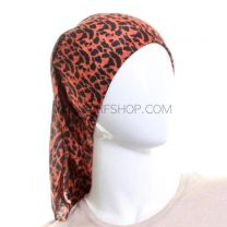 Orange Leopard Print Multifunctional Bandana