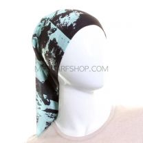 Blue and Black Splash Bandana - Multifunctional