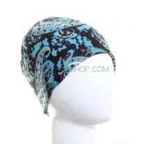 Turquoise and Black Paisley Multifunctional Bandana