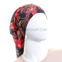 Navy Blue and Red Floral Multifunctional Bandana