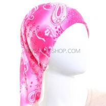Pink and White Paisley Bandana - Multifunctional