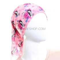 Pink Hearts and Stars Motif Multifunctional Bandana