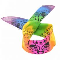 Multicoloured Skull Print Bandana
