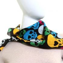 Brightly Coloured Skull Bandana