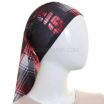 Black and Red Tartan Multifunctional Bandana