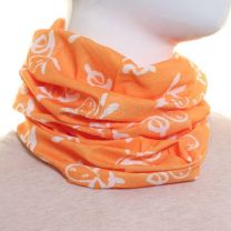 Orange and White Rabbit Bandana - Multifunctional