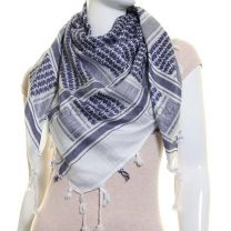 Blue and White Cotton Arab Scarf
