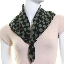 Checkered Green Cotton Bandana
