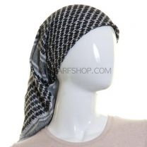 Black and White Arab Scarf (Shemagh)