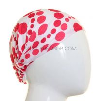 Headwrap Red Polka Dot