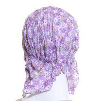 Cotton Headwrap Lilac Floral