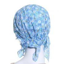 Cotton Headwrap Blue Floral