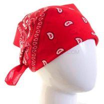 Paisley Cotton Bandana - Red