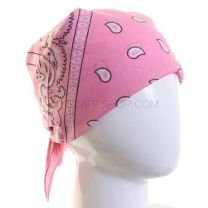 Paisley Cotton Bandana - Pink