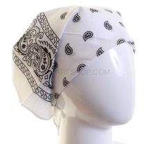 Paisley Cotton Bandana - White