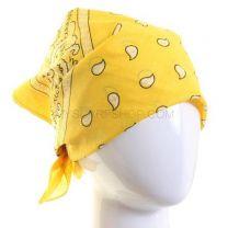 Paisley Cotton Bandana - Yellow