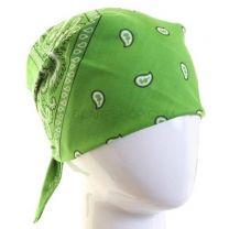 Paisley Cotton Bandana - Lime Green