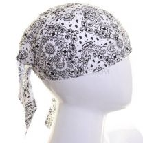 Cotton Zandana - White Paisley