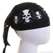 Cotton Zandana Skull Maltese Cross