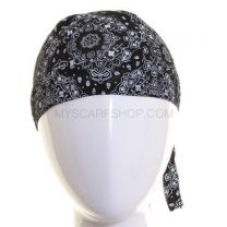 Cotton Zandana - Black Paisley