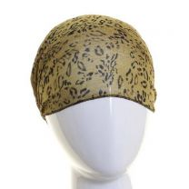 Green Leopard Print Chiffon Headwrap