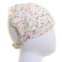 Chiffon Headwrap Cream Floral