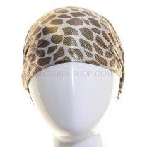 Silver Metallic Animal Print Headwrap