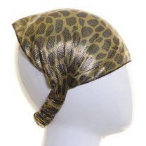 Headwrap Green Metallic Animal Print