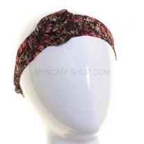 Headband Brown Flower