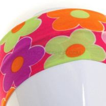 Printed Headband - Daisies With Pink Background