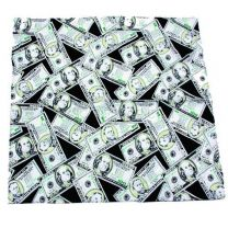 Dollar Bills Printed Black Bandana