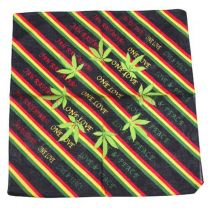 Striped & Hemp Plant Jah Rastafari Bandana