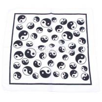 Yin & Yang Printed White Bandana