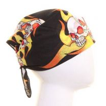Ghost Ryder Flaming Skull Bandana