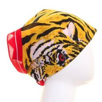 Tiger Striped Print Cotton Bandana