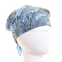 Chinese Dragon Sky Blue Bandana