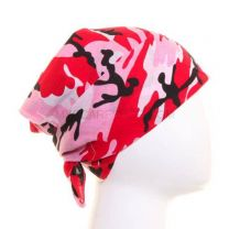 Pink and Red Camouflage Bandana