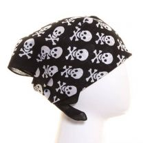 Black and White Skull and Cross Bones Bandana