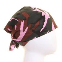 Pink Multicoloured Camouflage Bandana