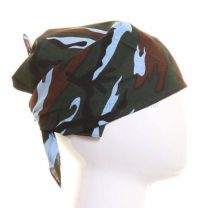 Camouflage Multicoloured Light Blue Bandana