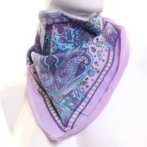 Paisley Cotton Bandana - Lilac Royal
