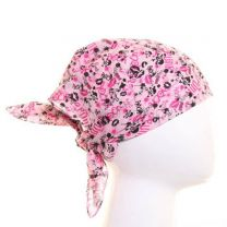 Pink & Black Miniature Skulls With Lips Bandana