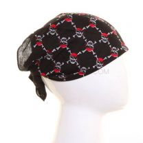 Black and Red Mini Pirate Skulls Bandana