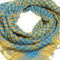 Blue & Mustard (Shemagh) Arab Scarf