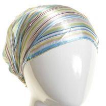 3in1 Green Stripes Headwrap