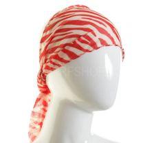 Headband Red Zebra Print