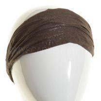3in1 Headwrap Brown Glitter