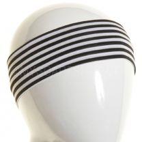 White & Black Stripes Slim Headband